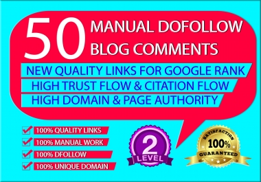 50 blog comments with UNIQUE DOMAIN.