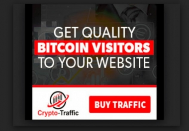 Drive Unique Super Targeted bitcoin traffic for your ico or website