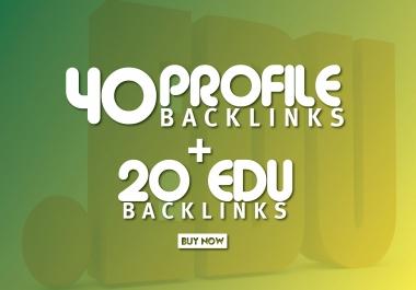 DA 70+ White Hat SEO Profile and EDU/GOV Permanent Backlinks just