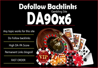 give you DA90x6 site gambling blogroll permanent