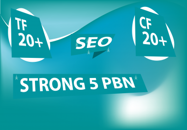 Build 5 High TF CF DA PA 20 to 30 ,Dofollow PBN Backlinks within 24 Hours