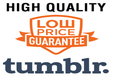 10 Tumblr High Quality (Permanent) Backlinks for 1 Professional Blog Post