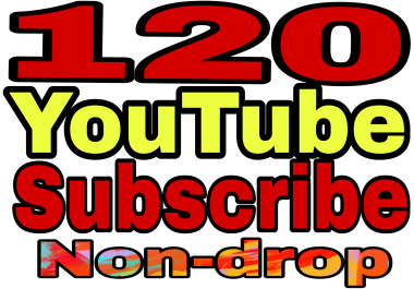 Special offe120+Non drop YT channel subs non drop Refill Guaranteed in 2-9hours  hours complete for