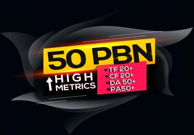 Build 50 High PA/DA TF/CF 50+ to 20, Homepage PBN Backlinks