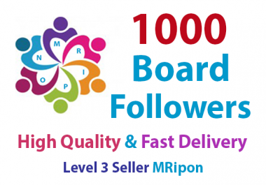 Start Instant 1000 High Quality Board Followers