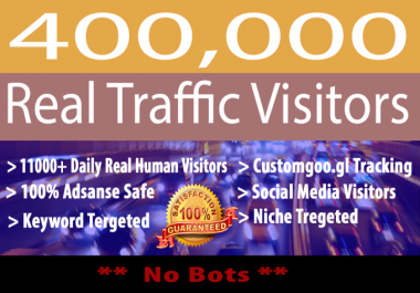 Send 400,000 Real Website Country Targeted low bounce rate visitors