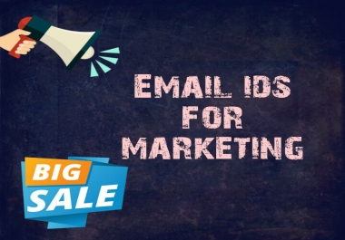 provide email database for mail marketing, world wide available - 200 million ids