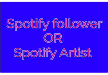 Instant Start 120+ Non-Drop High Quality Spotify profile followers