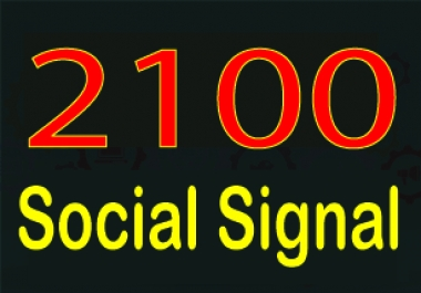 Rank your website with 2100 + Social Signals from only HIGH PR Backlink Websites