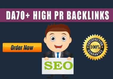 Create 20 High Pr 1-7 Dofollow Seo Backlinks with high DA 70- DA90