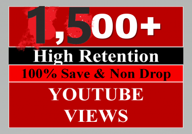 1500-2000 YouTube Video Views High Retention Nondrop Guaranteed just