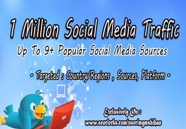 1 Million AdSense Safe Social Media Traffic