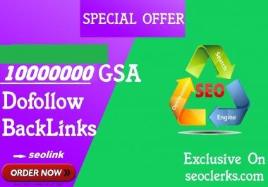10,00000 gsa,quality backlinks to rank your site