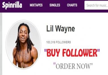 1000 follower for spinrilla artist