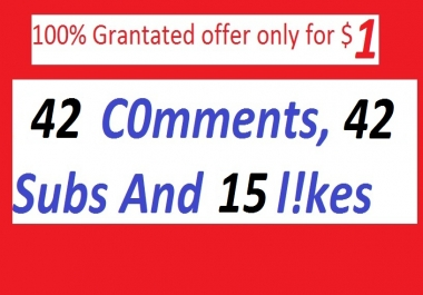 42 Custom Youtube Comments For  you Video SEO