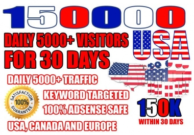 ✔ 5000+ visitors daily for 30 days Real Website Targeted USA Traffic,Visitors,Promotion