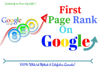 Provide you Guaranteed Google 1st Page Ranking