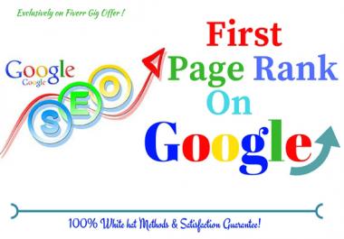Provide you Guaranteed Google 1st Page Ranking