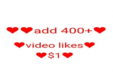 add 400+real non drop video likes 1-8 hours delivery