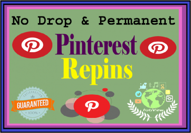 Get Provide You 1000 High Quality Pinterest Repin Important For SEO Ranking