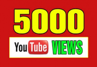 Adsense Safe 5000+ You Tube Views+ 200 Likes within 1-2 hours(Non Drop)