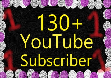 Instant 130+ Youtube Subscri'bers From USA, France and England for