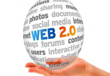 Get 10 Web 2.0 High Pr Dofollow Backlinks Manual Link Building