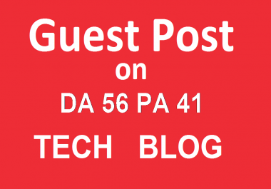 Publish a guest post on Area19delegate.org - Technology Blog - DA56