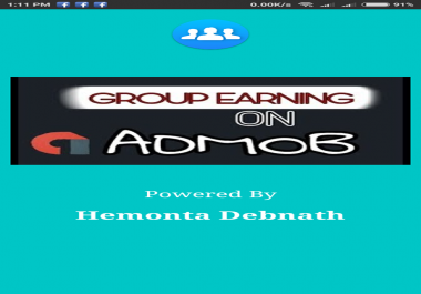 Earn Money From Admob Group Earning App!!