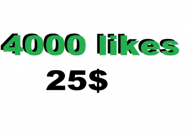 4000 likes in your music