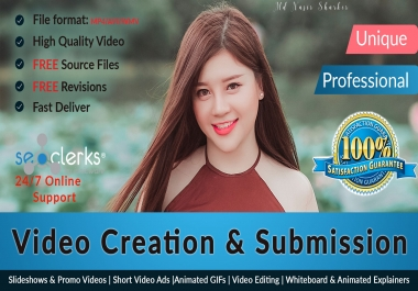 Do 20 High PR Sites Video Creation And Video Submission
