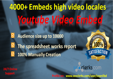 Manually 100 Submit Video Promote To Top Sharing Sites