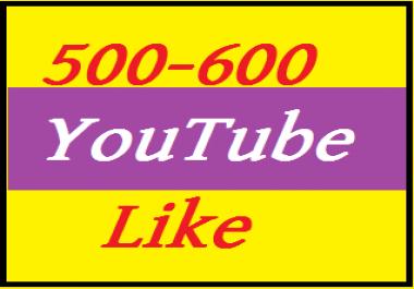 300 youtube l ike  supper fast delivered