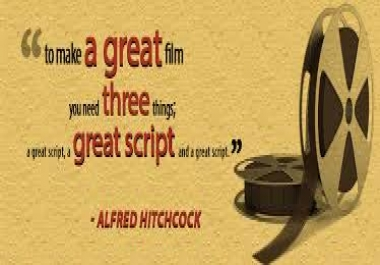 I Provide you a best Scriptwriting any types
