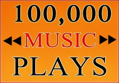 100K Music Plays to Your Track
