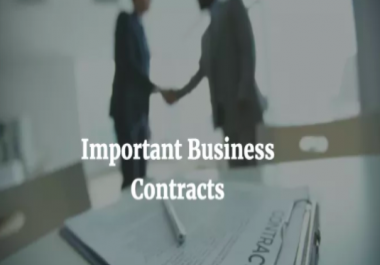 Business Contracts and Agreements