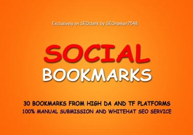Manually Build 30 High DA Social Bookmarking