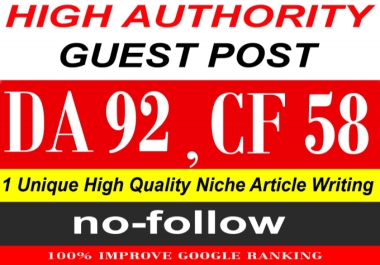 write & publish a guest post on Quora. Com PA91, CF58, DA92
