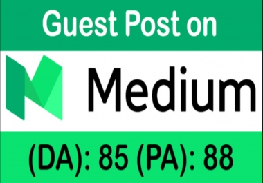 write & publish a guest post on Medium. Com DA 85, PA 88 (high traffic)