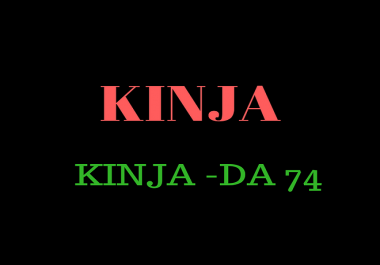 publish a high quality Guest Post On Kinja DA-78