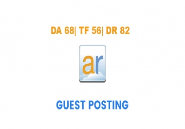 Publish a guest post on ActiveRain.com - DA68, TF56, DR82