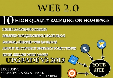 White HAT SEO Handmade 10 Web 2.0 Buffer Blog with Login, Unique Content, Image and Video