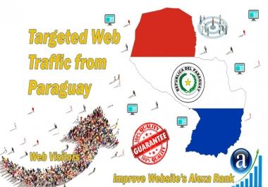 Send 25000 Paraguay web visitors real targeted geo traffic