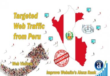 Send 20.000 Peru web visitors real targeted geo traffic