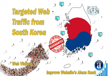 Send 25000 South Korea web visitors real targeted geo traffic