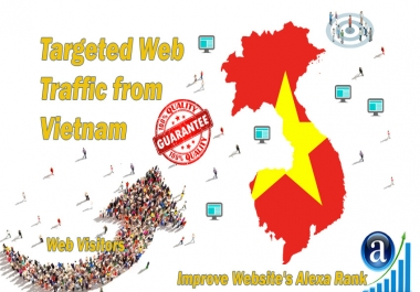 Send 25.000 Vietnam web visitors real targeted geo traffic