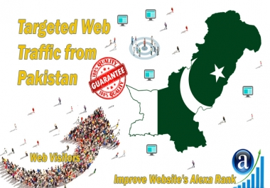 Send 20.000 Pakistan web visitors real targeted geo traffic