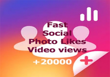 Split 20,000 Social Media Photo Likes or Video views within 1h