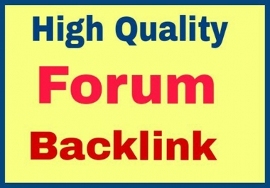 Get High quality Do follow 20 Forum Backlink