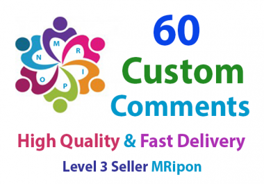 Get Instant 60 High Quality Custom Post Comments
